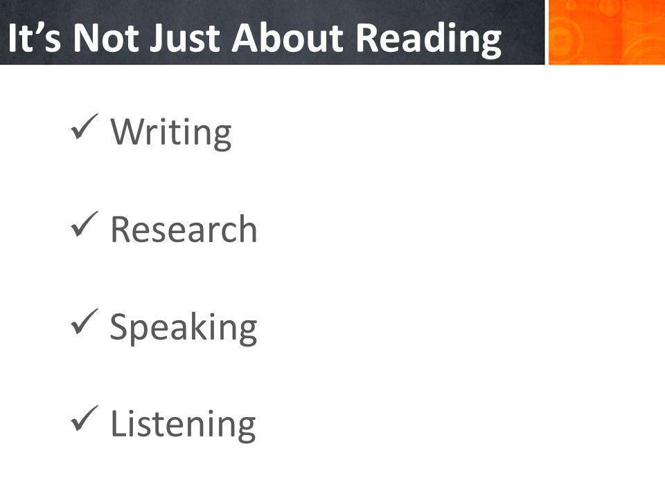 Writing Research Speaking Listening Its Not Just About Reading