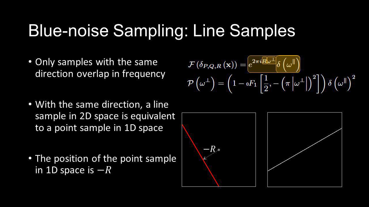 Blue-noise Sampling: Line Samples