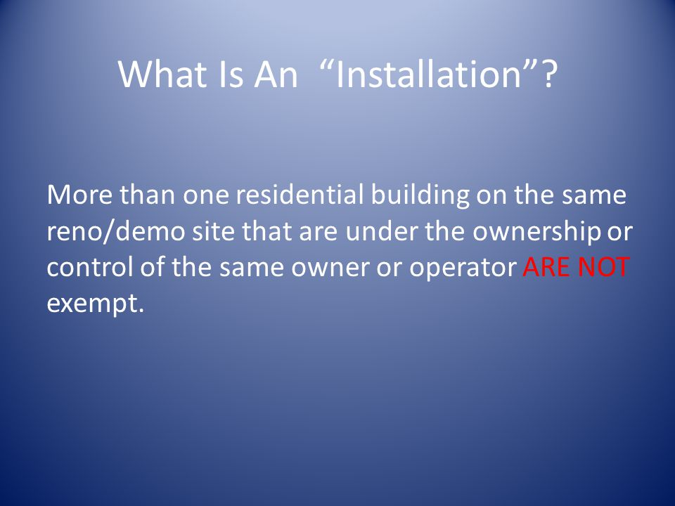 What Is An Installation.