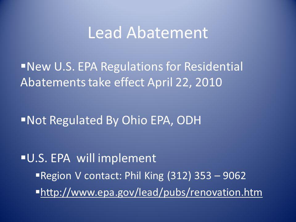 Lead Abatement New U.S.