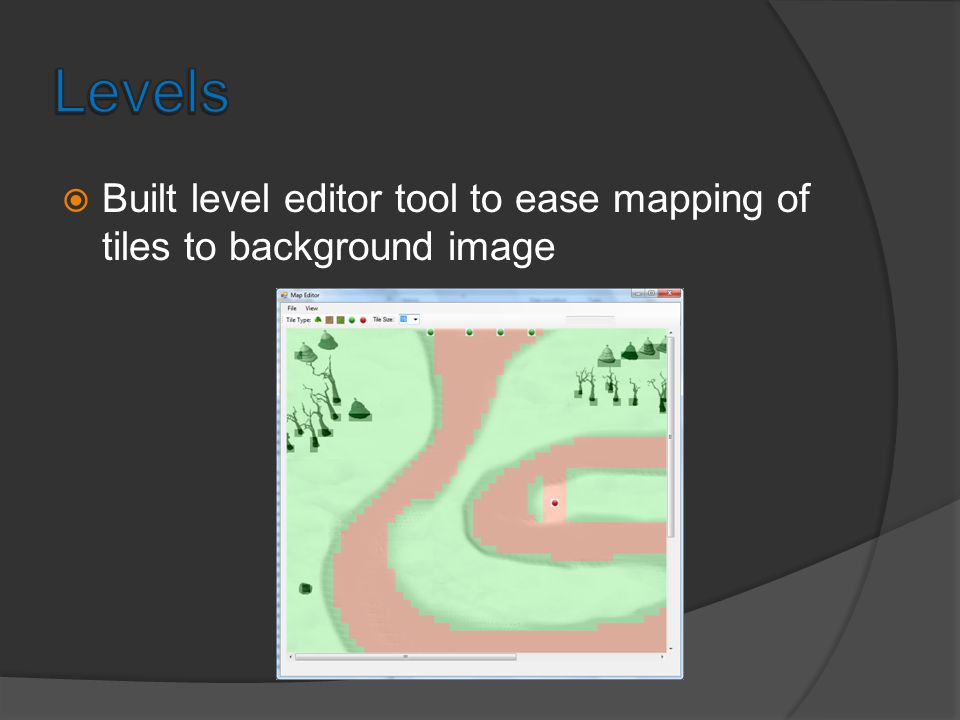 Level editor in action Level 3 Background Image Level 3 Having Tiles Mapped In Level Editor