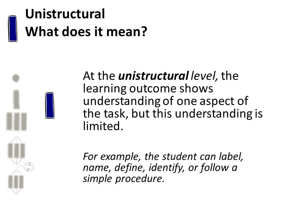 Unistructural What does it mean.