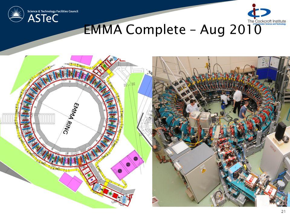 EMMA Complete – Aug 2010 21
