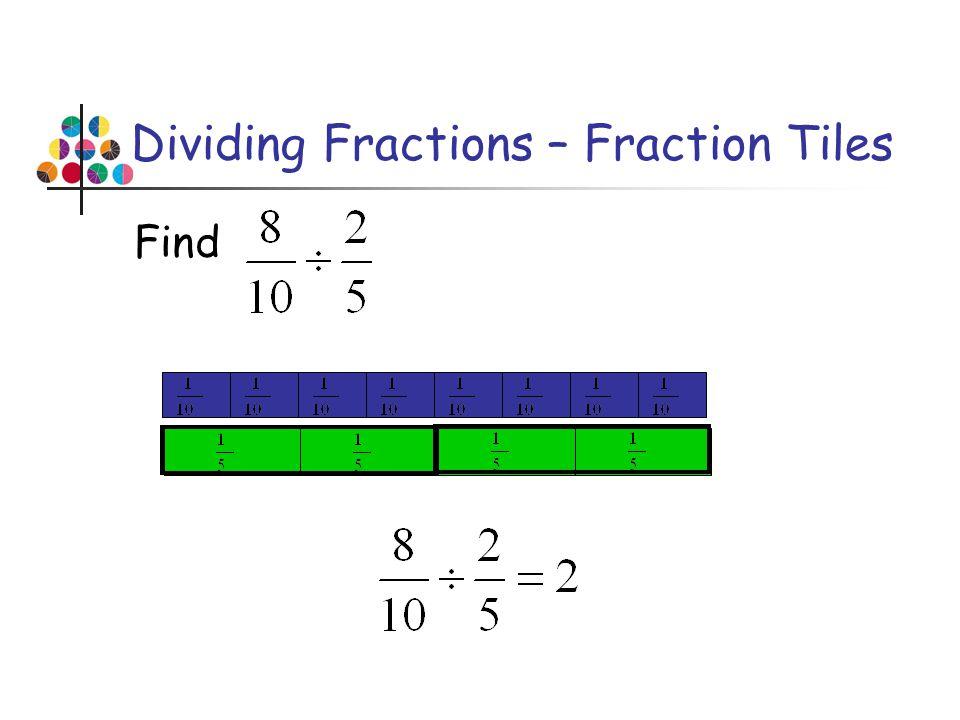 Dividing Fractions – Fraction Tiles Find