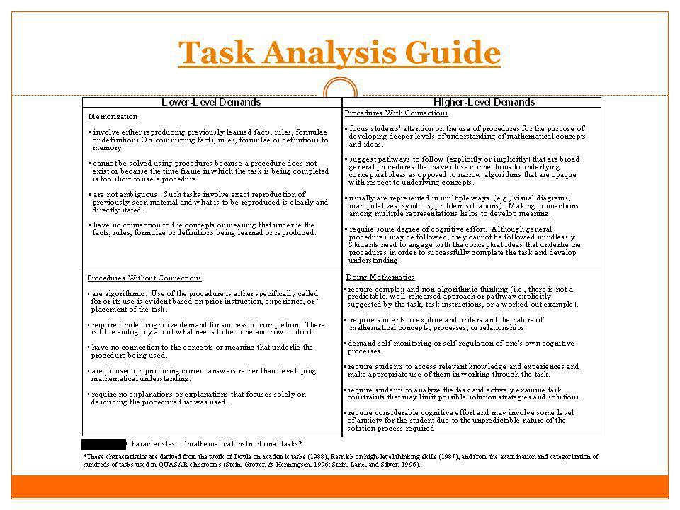 Task Analysis Guide