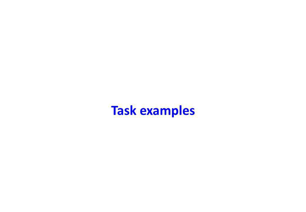 Task examples