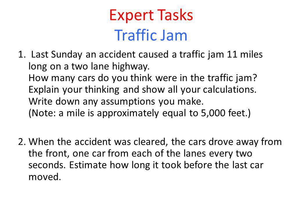 Expert Tasks Traffic Jam 1.