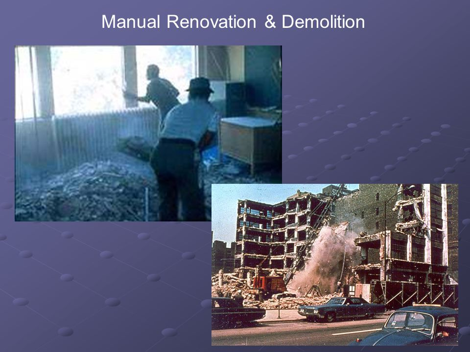 14 Manual Renovation & Demolition