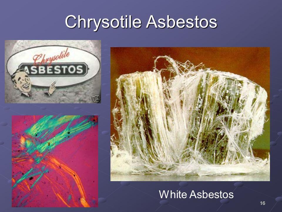 16 Chrysotile Asbestos White Asbestos