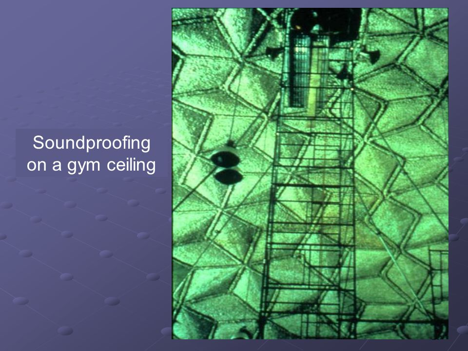29 Soundproofing on a gym ceiling