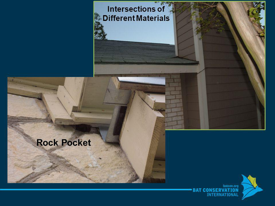 Rock Pocket Intersections of Different Materials