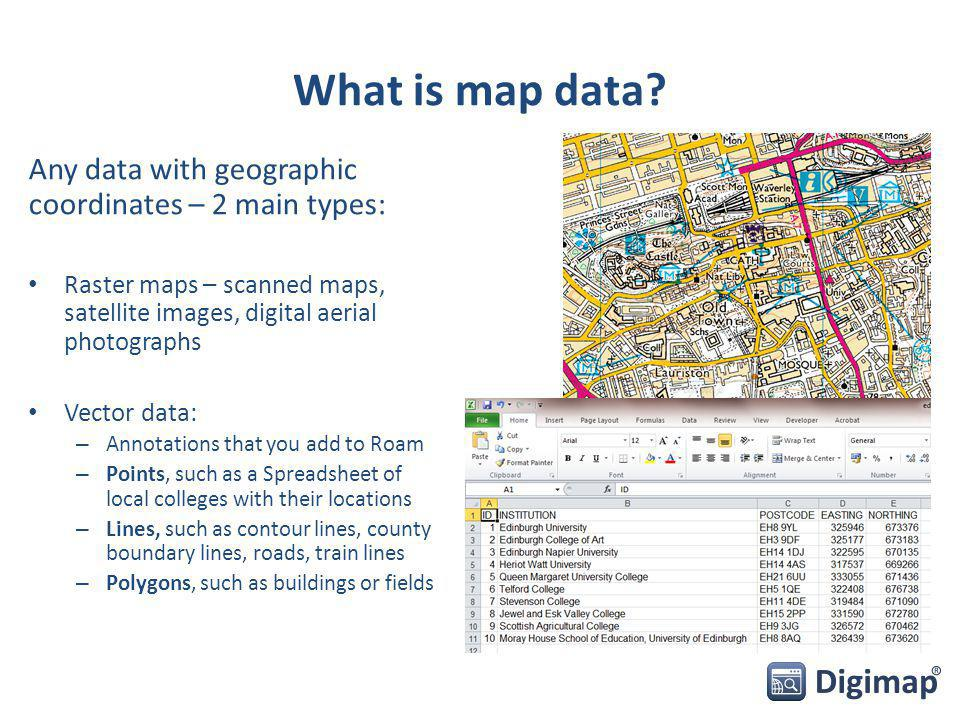 What is map data.