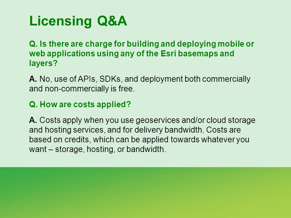 Licensing Q&A Q.