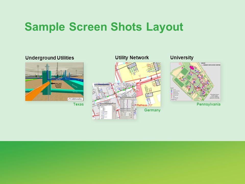 Sample Screen Shots Layout Utility Network Germany University Pennsylvania Underground Utilities Texas