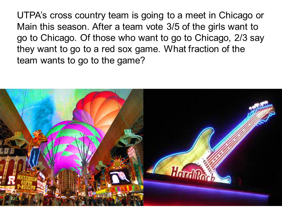 UTPAs cross country team is going to a meet in Chicago or Main this season.