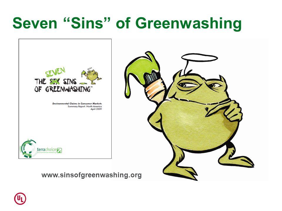 Seven Sins of Greenwashing www.sinsofgreenwashing.org