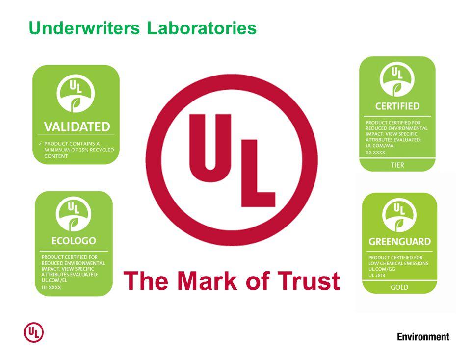 Underwriters Laboratories The Mark of Trust