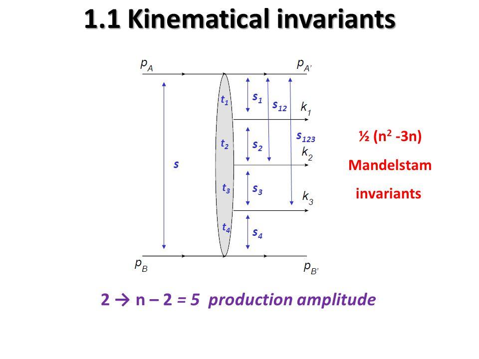 1.1 Kinematical invariants