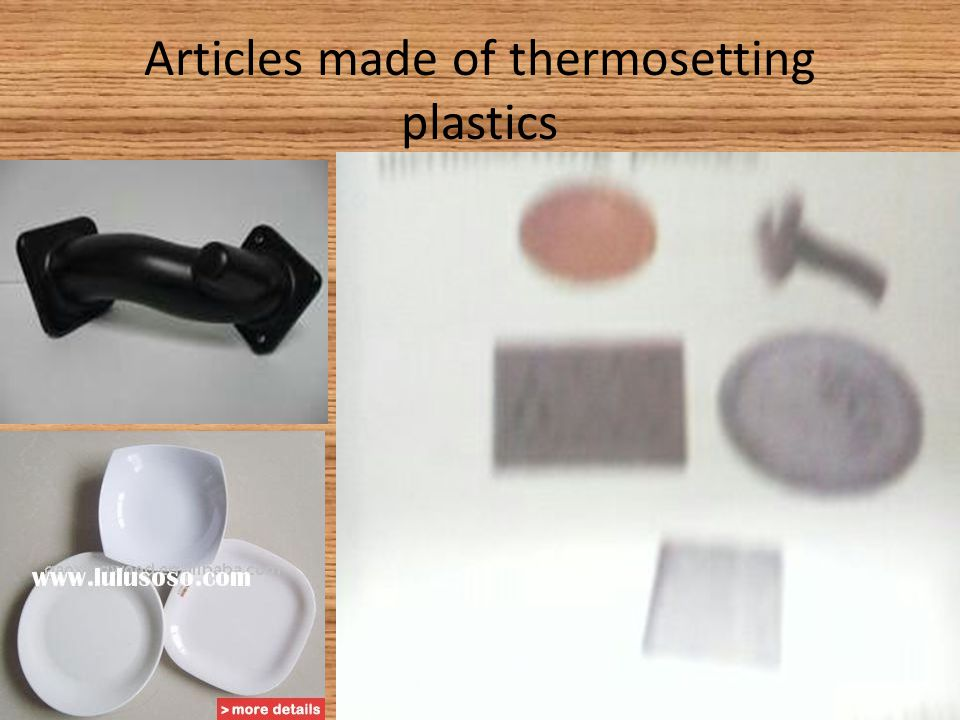 Articles made of thermosetting plastics