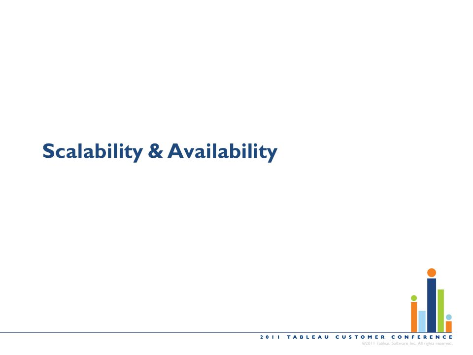 Scalability & Availability ©2011 Tableau Software Inc. All rights reserved.