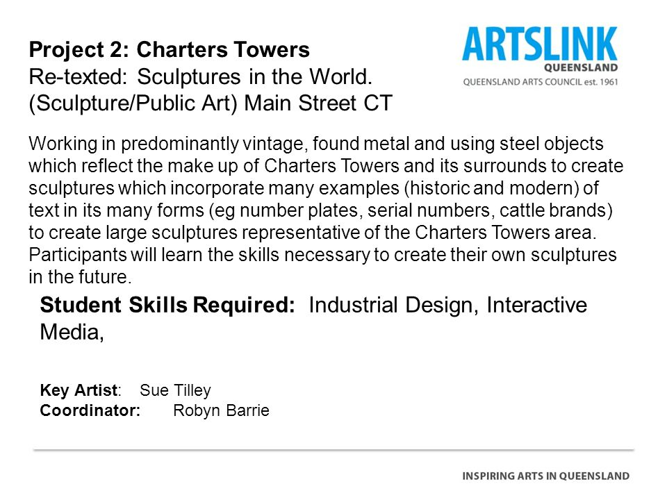 Project 2: Charters Towers Re-texted: Sculptures in the World.