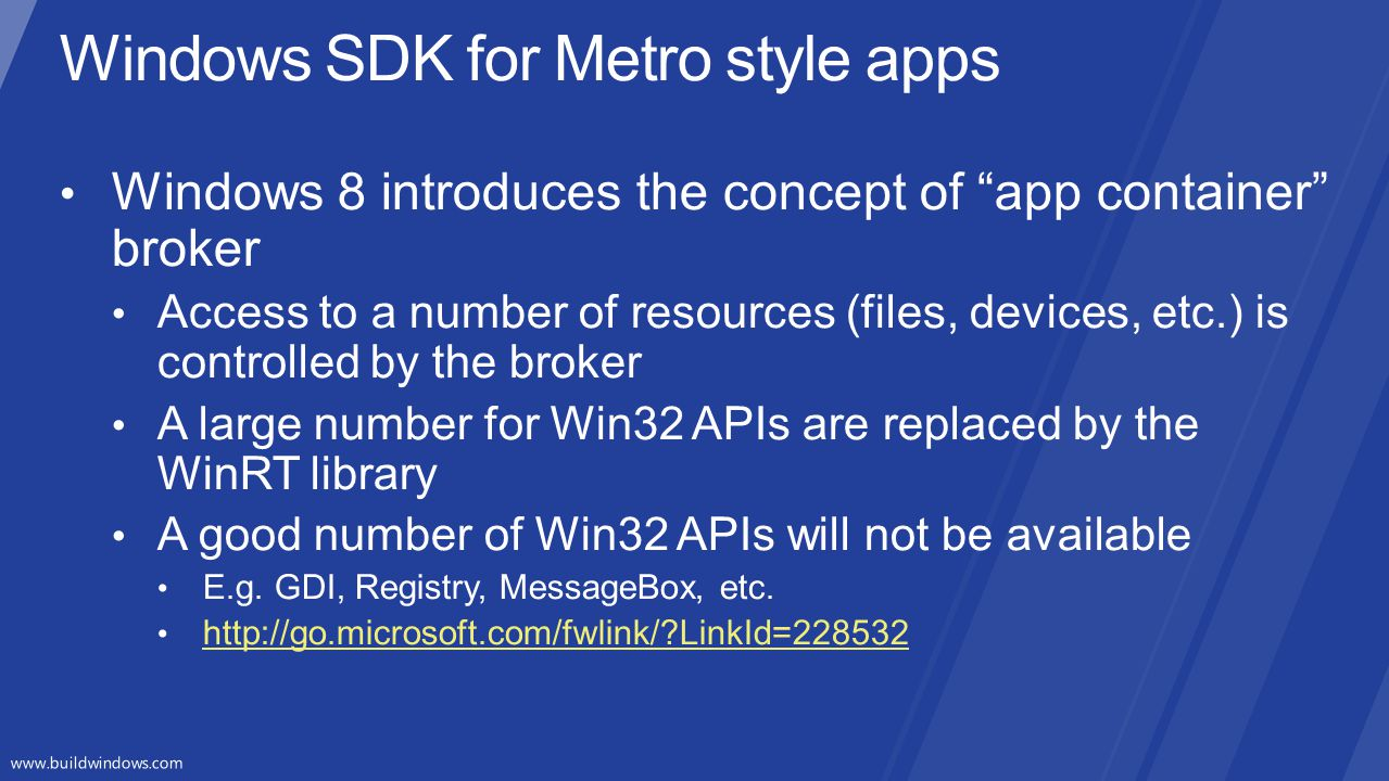 Desktop appsMetro style apps Microsoft Libraries