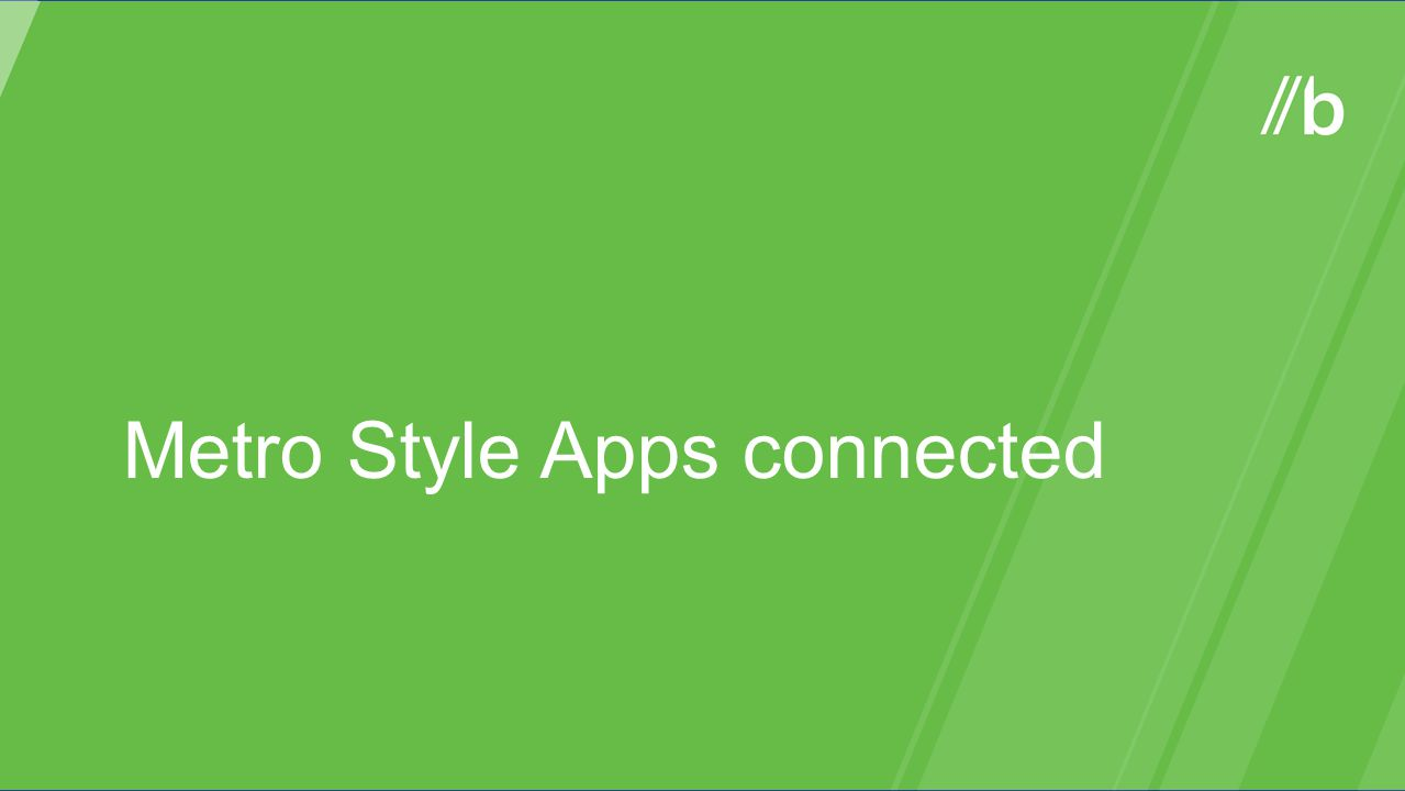 Metro Style Apps connected