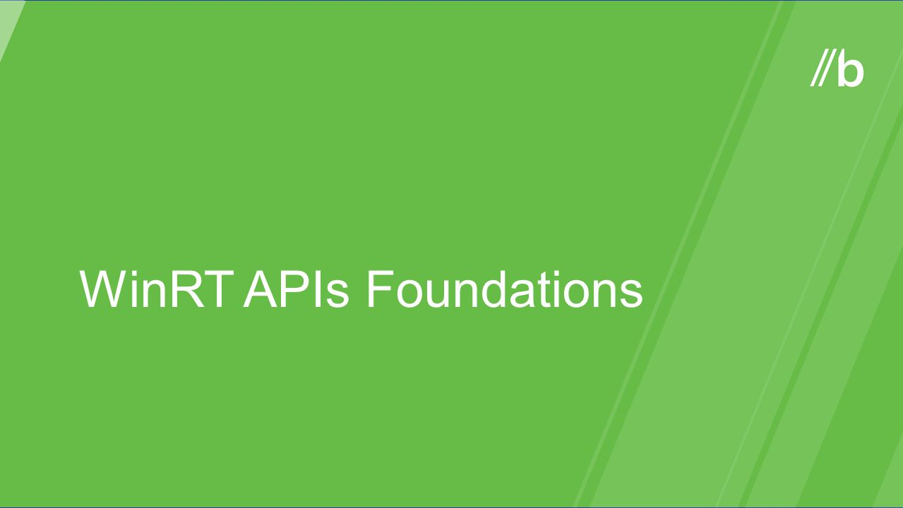 WinRT APIs Foundations