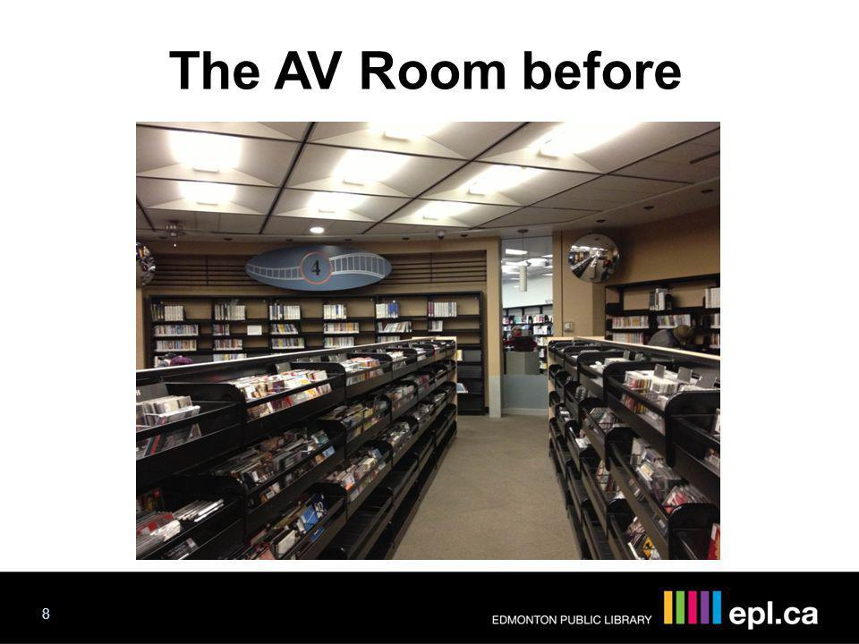 The AV Room before The AV Room 8 Progress