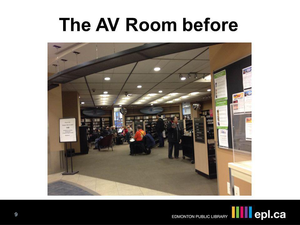 The AV Room before The AV Room 9 Progress