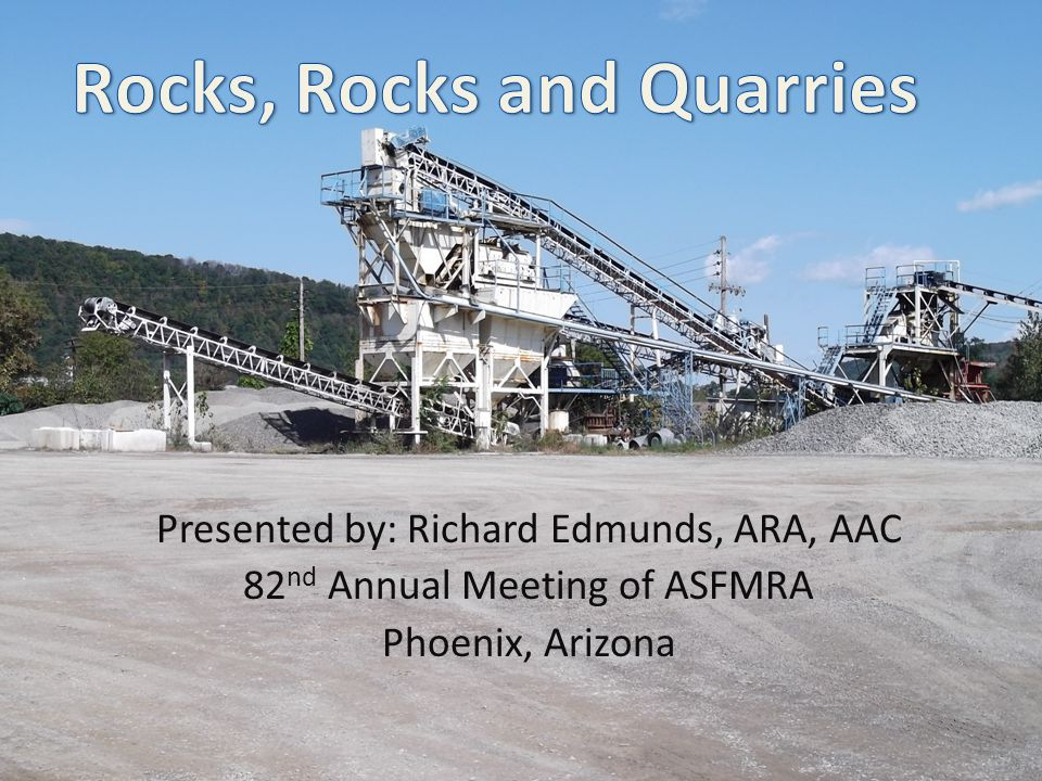 Presented by: Richard Edmunds, ARA, AAC 82 nd Annual Meeting of ASFMRA Phoenix, Arizona 1