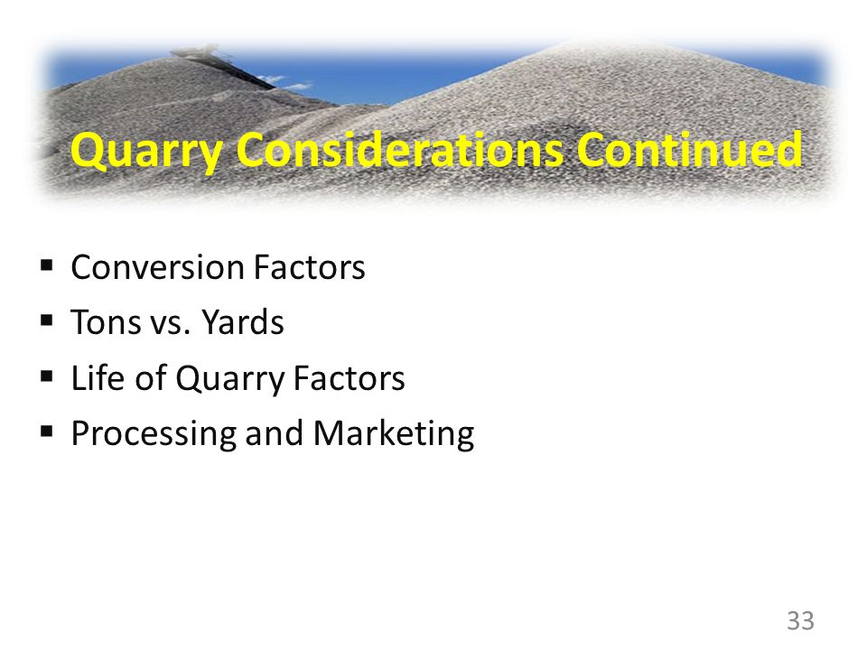 Conversion Factors Tons vs.