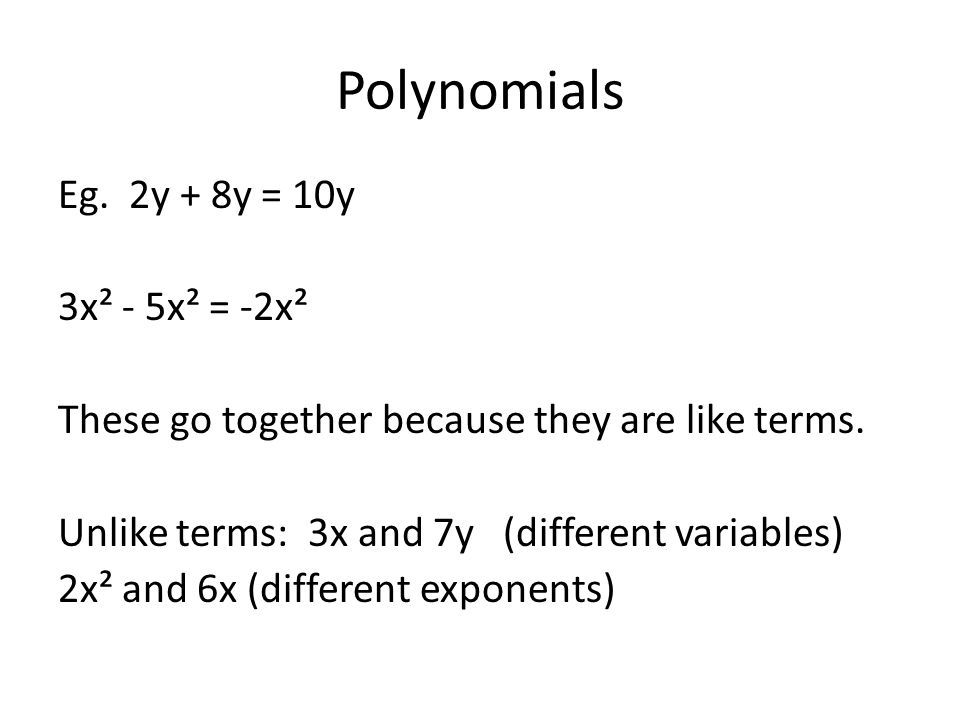 Polynomials Representing polynomials with algebra tiles Hand out the tiles.