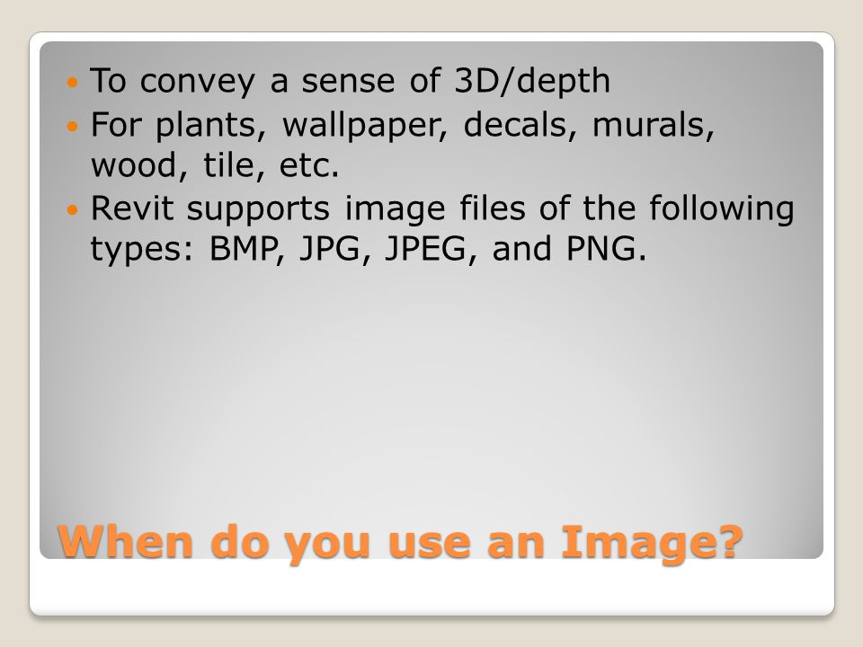 When do you use an Image.