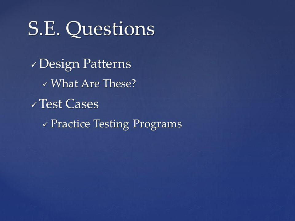 Design Patterns Design Patterns What Are These. What Are These.