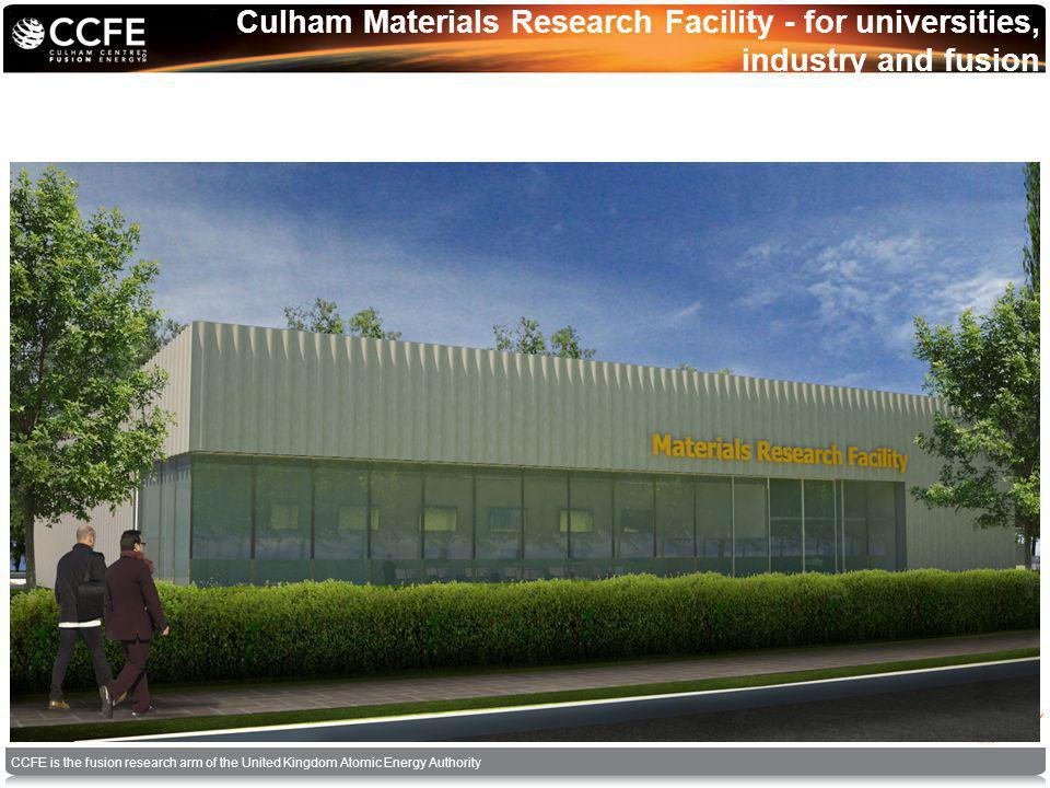 CCFE is the fusion research arm of the United Kingdom Atomic Energy Authority Culham Materials Research Facility - for universities, industry and fusion