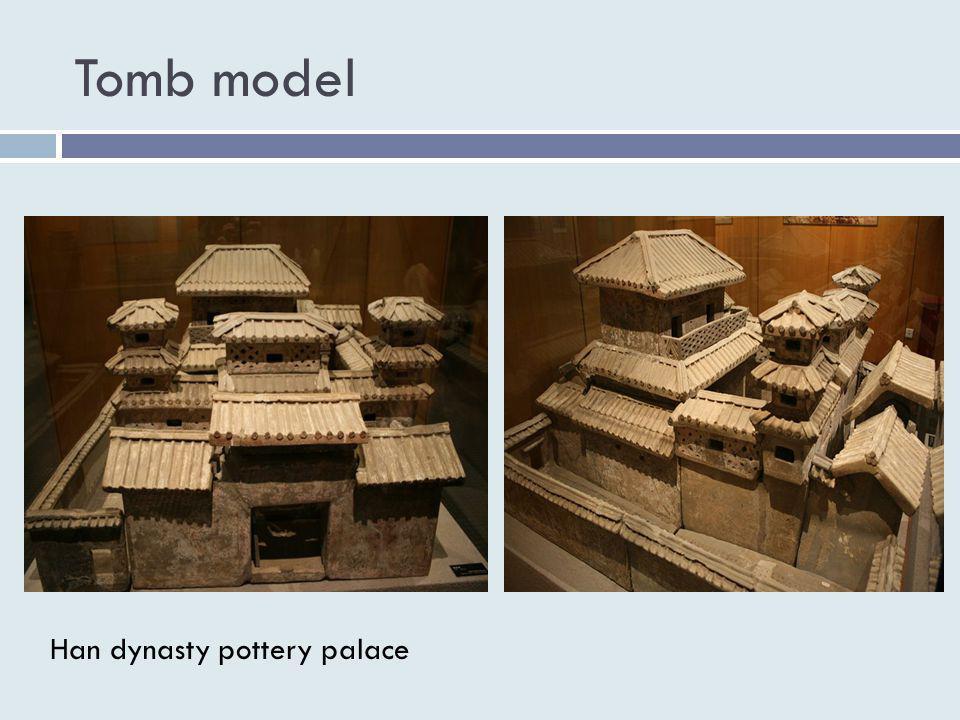 Tomb model Han dynasty pottery palace