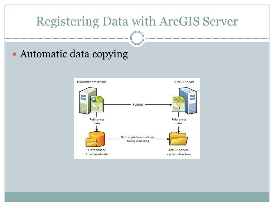 Registering Data with ArcGIS Server Automatic data copying