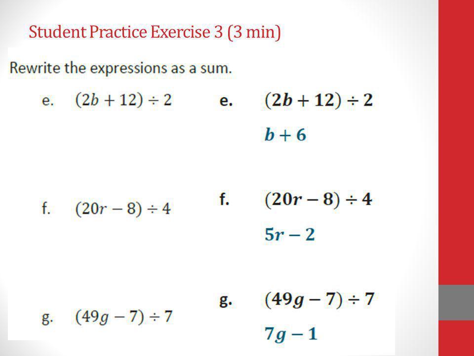 Student Practice Exercise 3 (3 min)