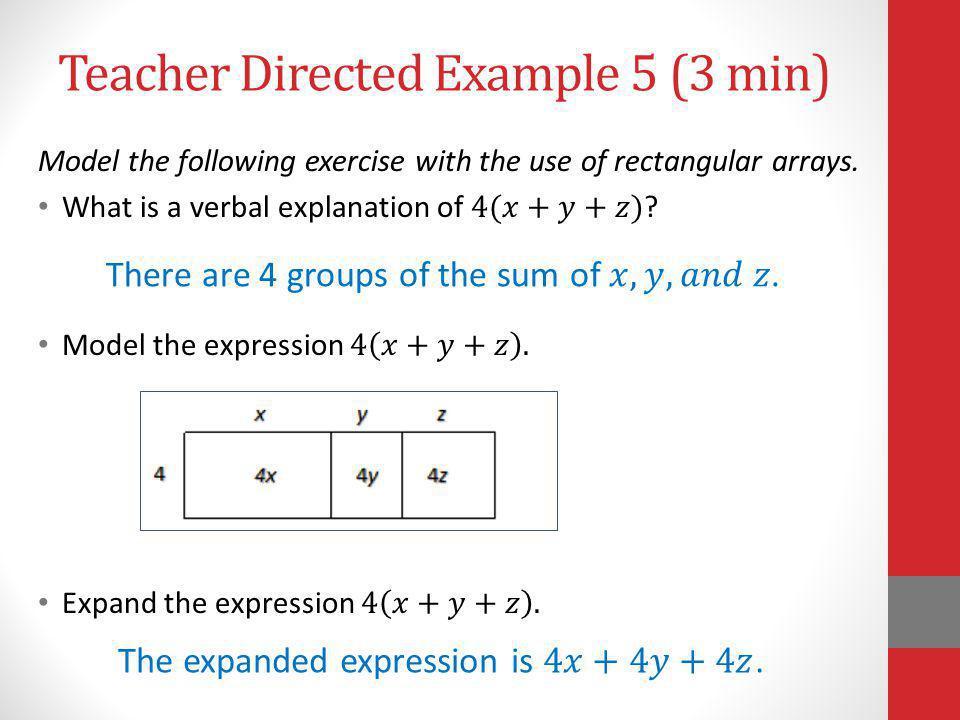 Teacher Directed Example 5 (3 min)