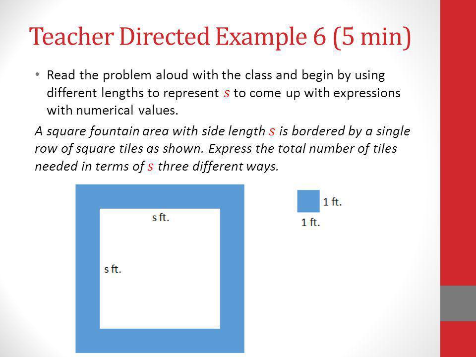 Teacher Directed Example 6 (5 min)