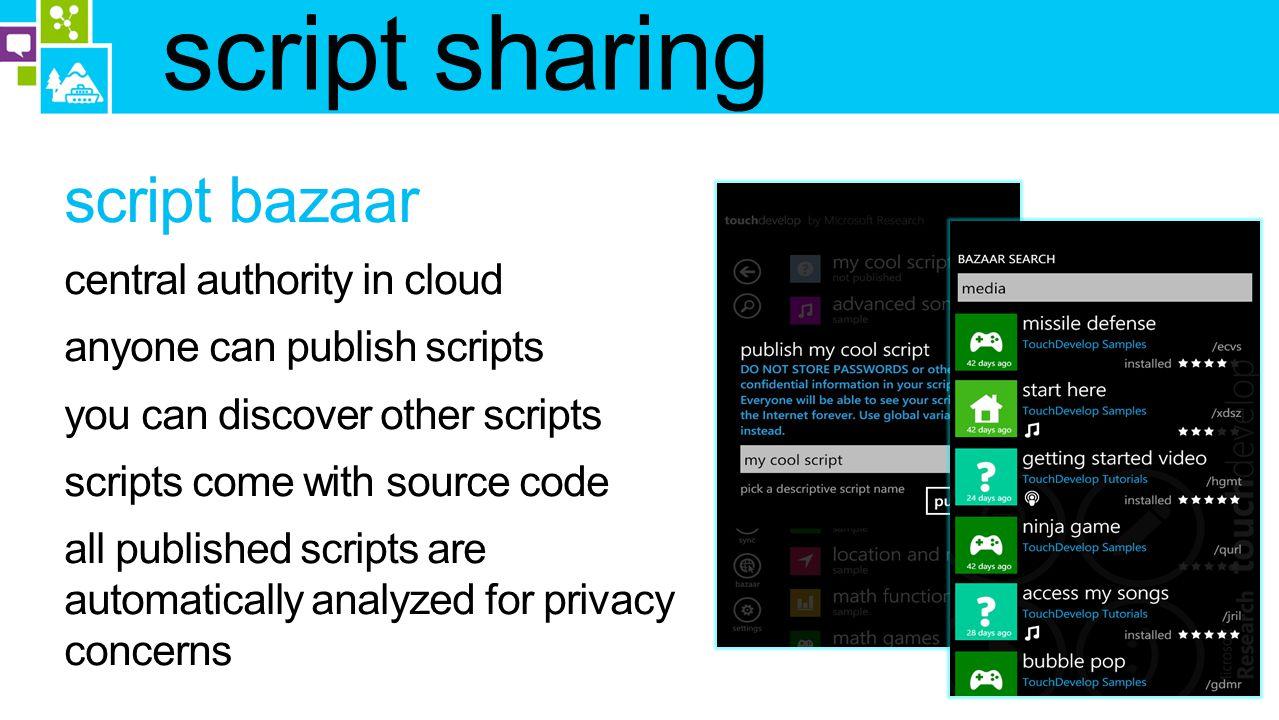 script sharing