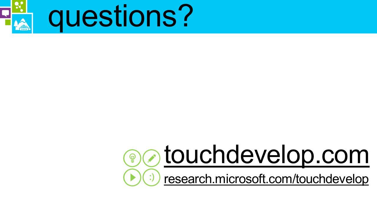 questions touchdevelop.com research.microsoft.com/touchdevelop