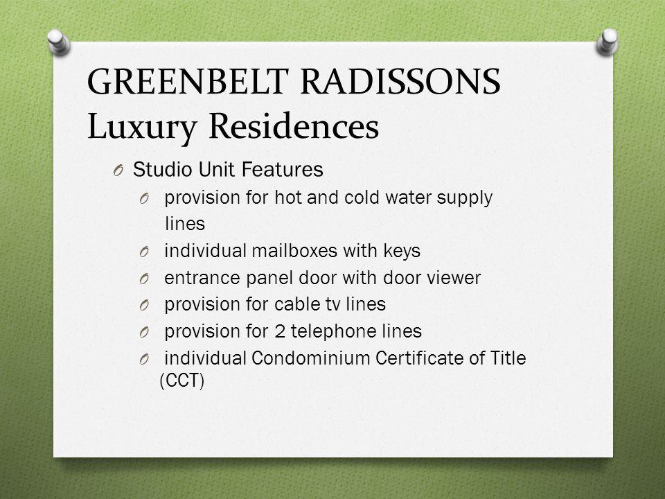 STAMFORD Executive Residences O Description: Studio Unit O Location: Unit 3L Stamford Executive Residences, McKinley Hill, Fort Bonifacio, Taguig City O Specifications: Floor Area: 32 sqm.