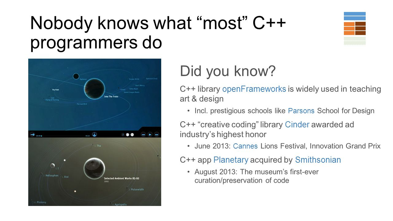 Nobody knows what most C++ programmers do