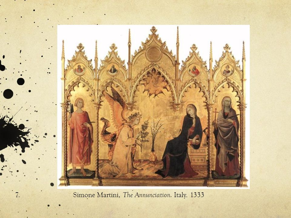 7.Simone Martini, The Annunciation. Italy. 1333