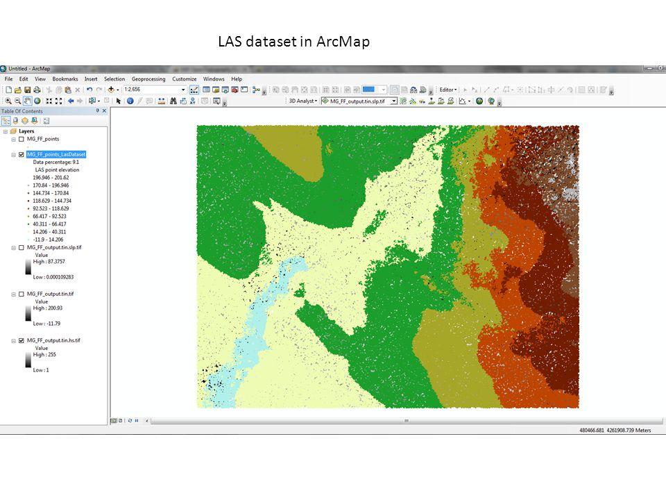 LAS dataset in ArcMap