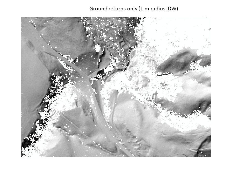 Ground returns only (1 m radius IDW)