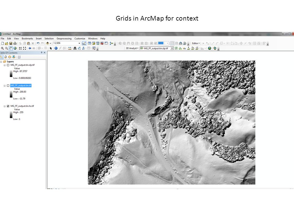 Grids in ArcMap for context