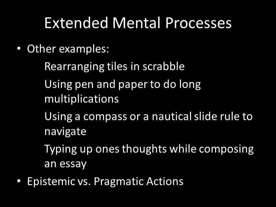 Extended Mental States Information vs.